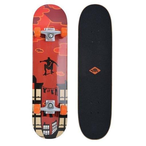 Schildkröt Skateboard KICKER 31 Red Parkour 510602