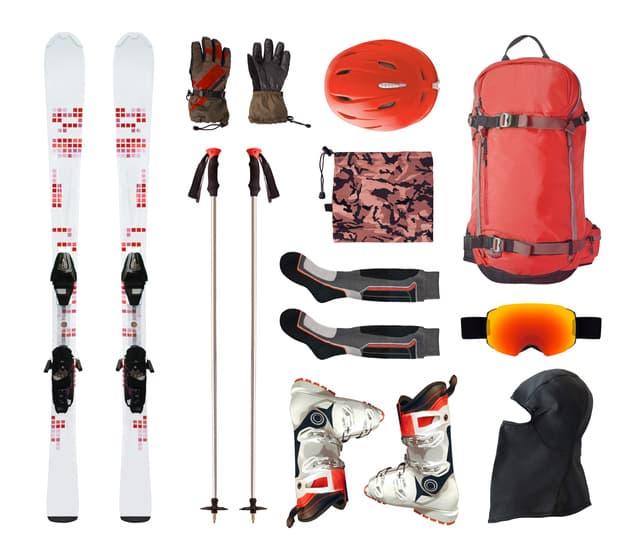 Skiausrüstung für den Wintersport